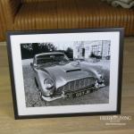 Austin Martin James Bond Auto Wandbild Fotodruck Schwarz weiß Oldtimer Racing