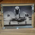 Wandbild Spiegelrahmen Flugzeug Nostalgie Druck Dakota DC-2 American Airlines