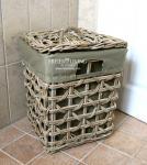 Großer Wäschekorb aus Rattan für Ihr Home Interiors