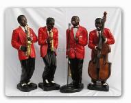 Jazz Musiker als Band Dekofiguren Figuren