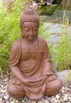 Buddha in Rost Optik als Figur und Statue