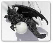 Drachenlampe Drachenfigur Hängelampe Figur Statue