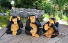 Affe Affen Band Figur Dekofigur Afrika Dekoration