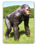 Gorilla Dekofigur Aufstellfigur Affe Lebensgroß
