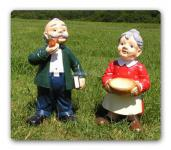 Oma Opa Dekoration Figur Garten-Deko Figuren