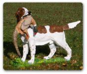 Münsterländer Jagdhund mit Fersan Tierfigur Figur