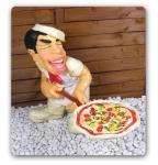 Pizza Werbefigur Koch Gastronomie Figur Statue