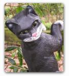 Hängende Katze Tierfigur Figur Gartenfigur Garten