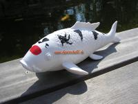 Taisho Snake Koi Karpfen Figur Teichdekoration Fisch Statue