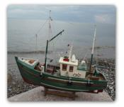 Fischkutter Kutter Modellschiff Modell Holz Schiff