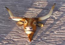 Longhorn Kopf Western Dekofigur Figur Boss Hoss