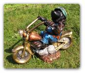 Maulwurf Motorrad Dekofigur Figur Statue Garten