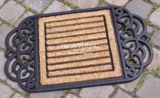 Kokos Fußmatte Fußabtreter im Nostalgie und Art Deco Stil Gummimatte Matte
