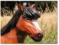 Pferd Dekofigur Pony Figur Lebensgroß Reiterhof