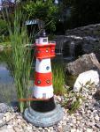 Leuchtturm roter Sand Dekofigur Maritime Deko