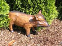 Wildschwein Frischling Dekofigur Figur Statue Skulptur Garten Gartenfigur