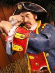 Pirat Seeräuber Figur fernrohr Werbefigur Themendekoration Statue Lebensgroß