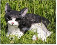 Katze Kater als Dekofigur Gartenfigur