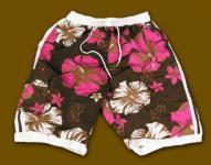 Hawaii BEACH Badeshorts Shorts Hibiscus
