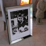 Wandbild Spiegelrahmen Frühstück bei Tiffany Wandbild Audrey Hepburn mit Rahmen