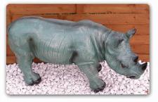 Afrikanisches Nashorn als Dekofigur Figur Deko