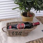 Rattan Weinkorb Weinregal Wein Flaschen Halter Rattankorb Deko