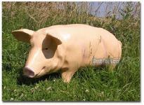 Schwein Dekofigur Statue Werbefigur Bauernhof