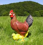 Huhn mit Küken Dekofigur