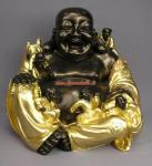 Buddha Glücks Dekoration Dekofigur Geld Figur Statue Deko Skulptur