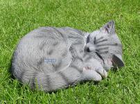 Graue Katzen Kater Dekofigur für alle Liebhaber