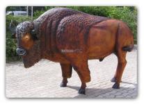 Bison Figur Lebensgröße Dekofigur Deko Statue