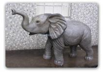 Elefant Dekofigur Baby Lebensgroß Figur Statue