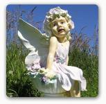 Elfe für Blumen als Dekofigur Gartenfigur Figur