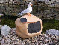 Stein Hausnummer Möwe Deko Dekofigur Figur