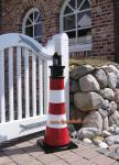 Leuchtturm Gartenfigur Roter Sand Optik Garten Dekoration