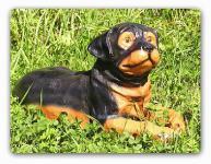 Rottweiler Dekofigur Figur Tierfigur Deko