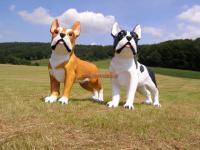 XXL Hund Französische Bulldogge als riesen Werbefigur