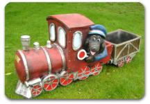 Maulwurf Lokomotive Deko Eisenbahn Gartenfigur