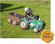 MMMaulwurf auf Trecker Traktor Gartenfigur Figur