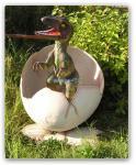 Tyrannosaurus Rex Baby im Ei Figur Statue Dino