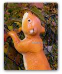 Eichhörnchen Gartenfigur Statue Skulptur Figur