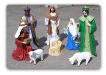 Weihnachtskripper krippenfiguren groß gartenfigur