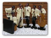 Blues Band Jazz Sänger Dekofigur Figur Figuren