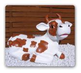 Braune Kuh als Aufstellfigur Dekoration Bauernhof