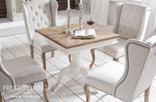 Quadratischer Esstisch Beistelltisch alt weiß Shabby Chic Französischer Wohnstil