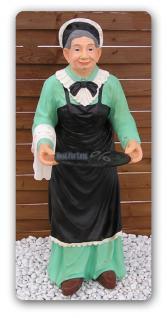 Oma Butler Dekofigur in Antik Optik Figur Diner