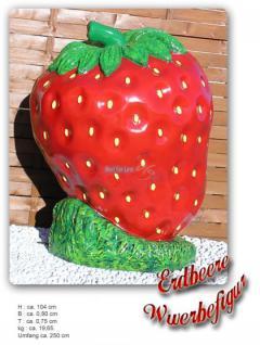 Erdbeere Figur Werbeaufsteller Werbefigur Deko - Vorschau 2