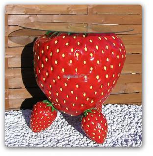 Erdbeere Werbefigur Tisch Werbung Dekoration Obst - Vorschau 1