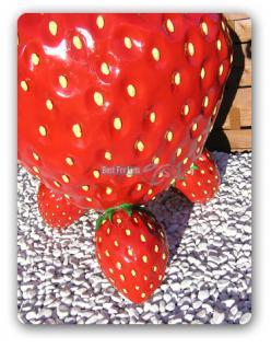 Erdbeere Werbefigur Tisch Werbung Dekoration Obst - Vorschau 4