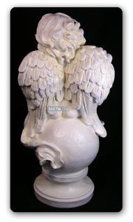 Engel auf Kugel Gartenfigur Dekofigur Figur Statue - Vorschau 2